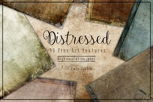 Distressed fine art textures