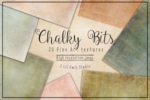 Chalky Bits Fine Art Textures