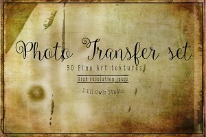 Photo Transfer Fine Art Textures