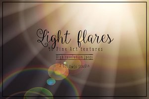 Light flares - fine art texture