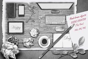 Scene creator / Hand-drawn objects