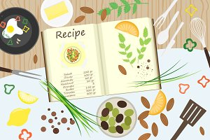 Food and cooking vector banners
