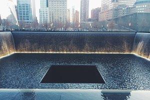 9/11 Memorial Fountain NYC