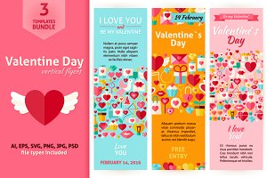 Valentine Day Vertical Invitations