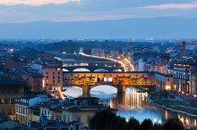 Florence at night. Tuscany, Italy.