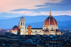 Florence skyline at sunset.