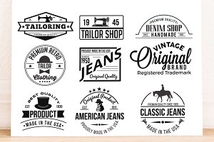 9 Retro Labels