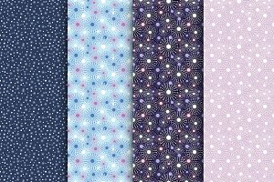 Seamless Patterns with Snowflakes