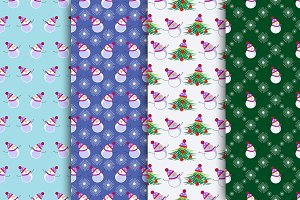 Seamless Patterns with Snowmen
