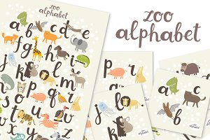 ZOO Alphabet in vector eps10 and jpg