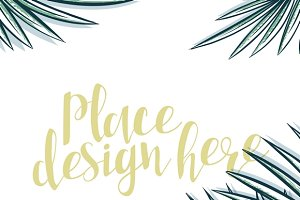 Design background with palm leaves
