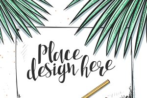 Template design. Concept Mockup