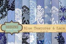 Vintage Blue Lace Digital Paper