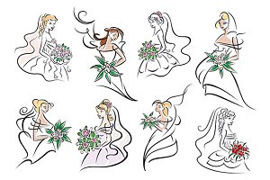 Pretty brides and bridemaids