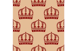 Medieval icons seamless pattern