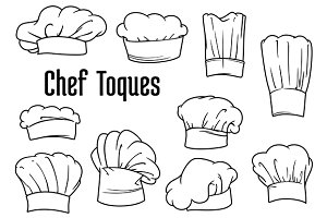 Chef caps and hats set