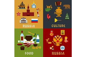Russian food, culture and landmarks