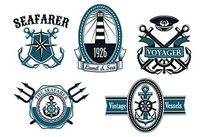Nautical and marine emblems