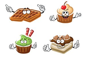 Cakes, cupcakes and waffles