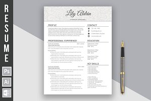 "Resume Template ""Lily Aldrin light"""