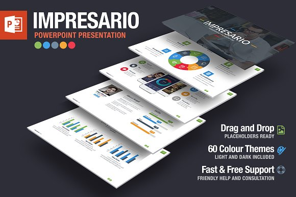 impresario powerpoint template presentation templates creative
