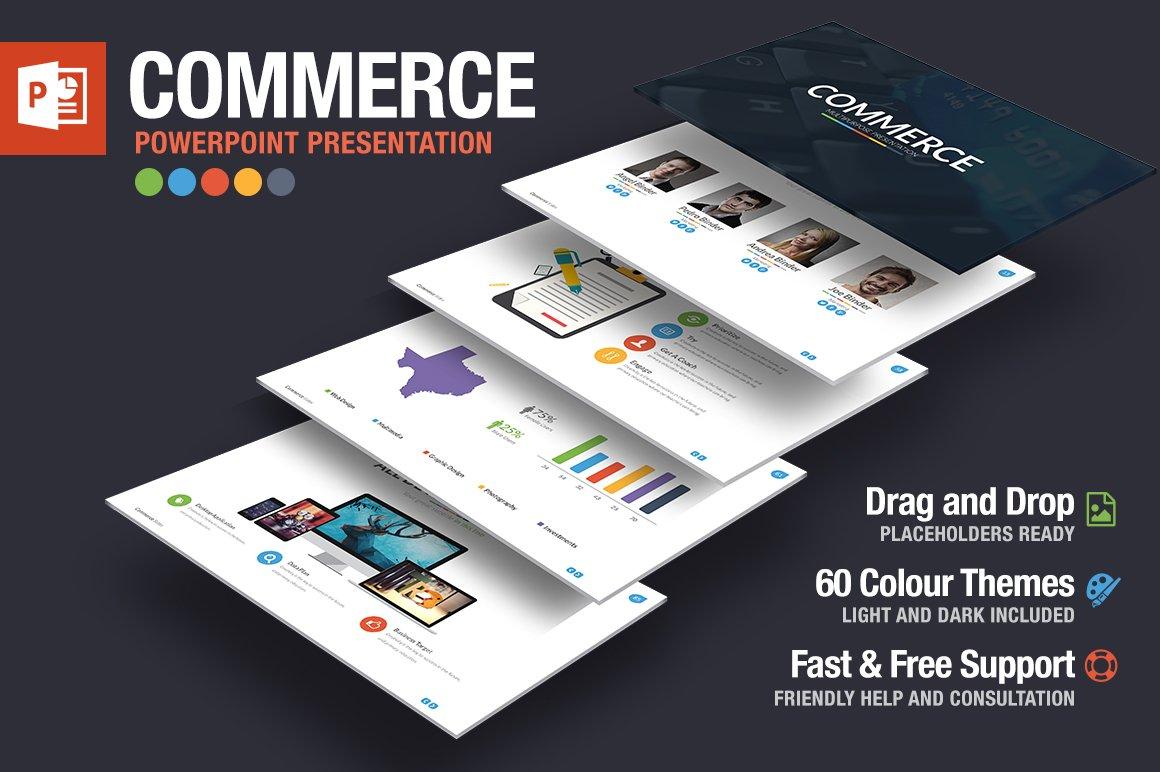 Commerce Powerpoint Template ~ Presentation Templates ~ Creative Market