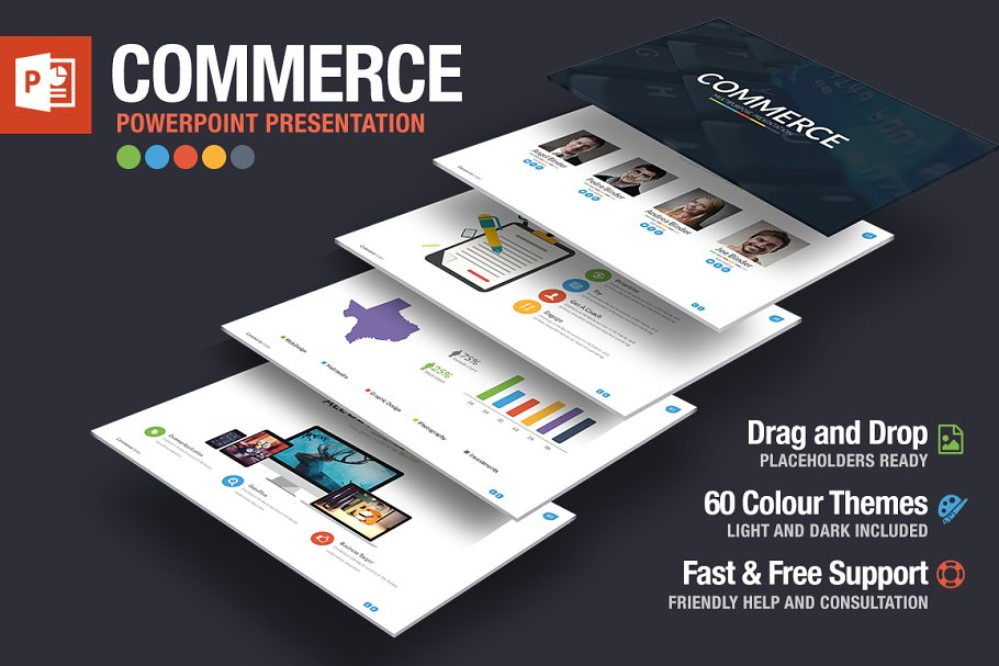 Commerce Powerpoint Template ~ PowerPoint Templates ~ Creative Market