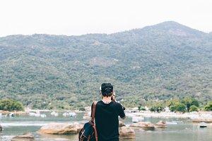 Backpacker on Ilha Grande island #2
