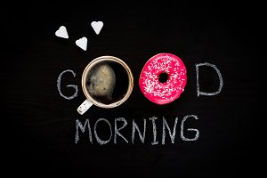 Donuts and coffee. Good Morning