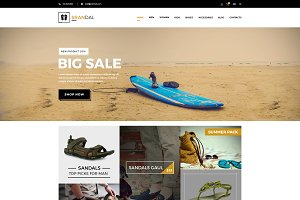 Srandal Ecommerce PSD Template