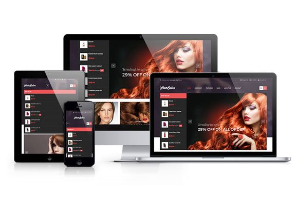 ap hair salon prestashop theme website templates creative market