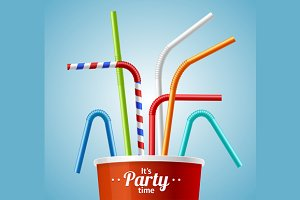 Drinking Straws and Cup Party