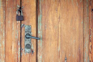 Old wooden doors