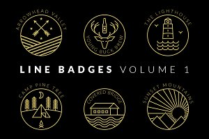 Line Badges - Volume 1