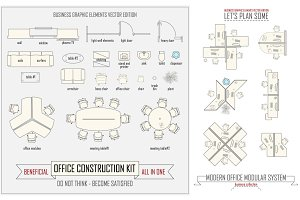 Office layout construction kit