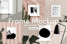 Poster Frame Mockup Generator
