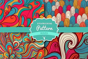"Vector Set ""Waves pattern set 3"""