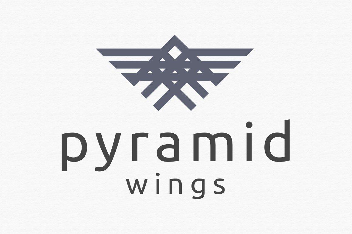 Pyramid Wings Logo Template ~ Logo Templates ~ Creative Market