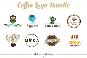 Coffee Logo Template Bundle