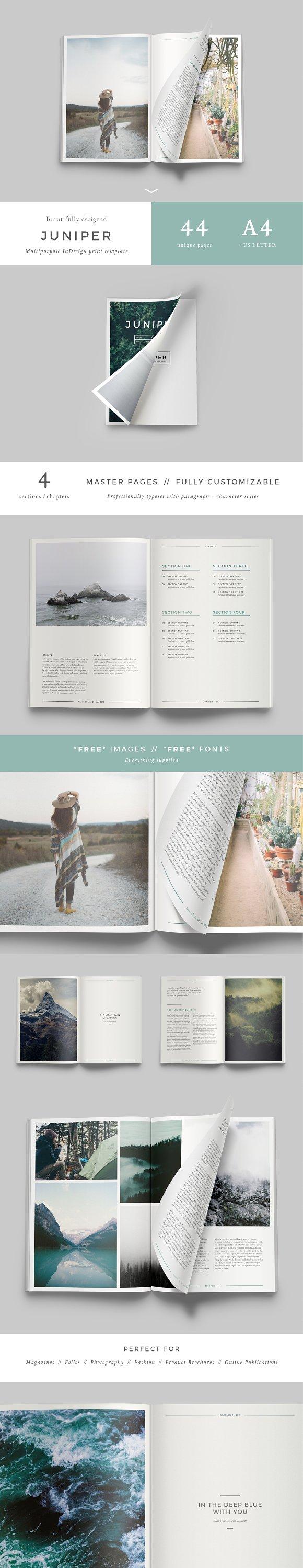 j u n i p e r magazine portfolio magazine templates creative
