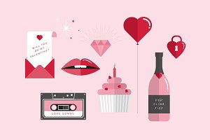 valentine's day vector/illustration
