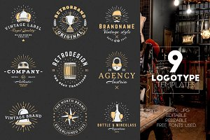 Set of 9 Logotype Templates