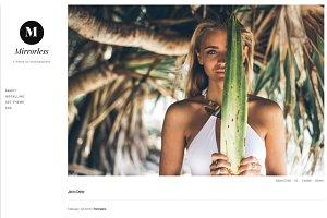 Mirrorless tumblr theme