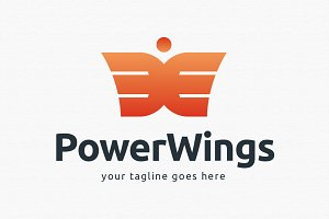 Power Wings Logo Template