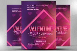 Valentine Day Celebration Flyer