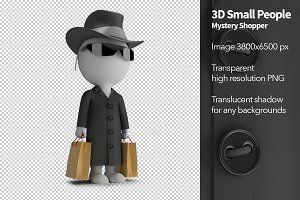 3D Small People - Mystery Shopper