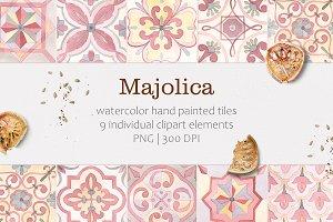 Majolica. Mediterranean tiles