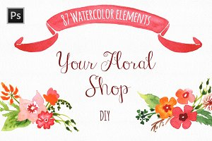 Watercolor Floral DIY Collection
