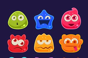 Cute jelly characters