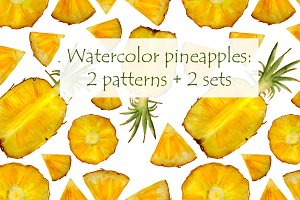 Pineapples patterns and sets